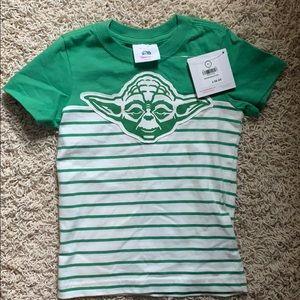 Hanna Andersson Green Yoda Toddler T-Shirt